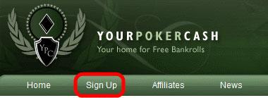 YourPokerCash кнопка регистрации